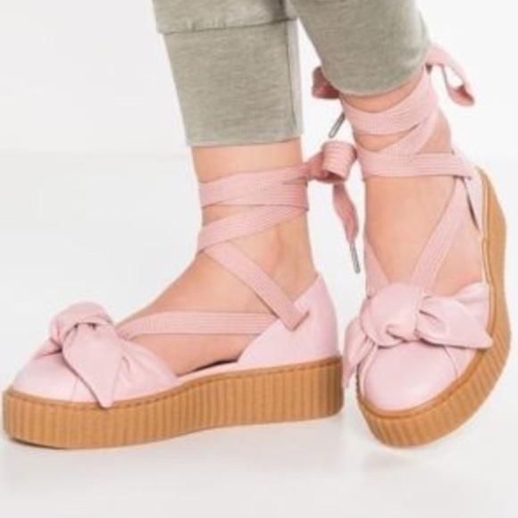 82b07e03c19866 FENTY by Rihanna baby pink strappy shoe. Boutique. Puma